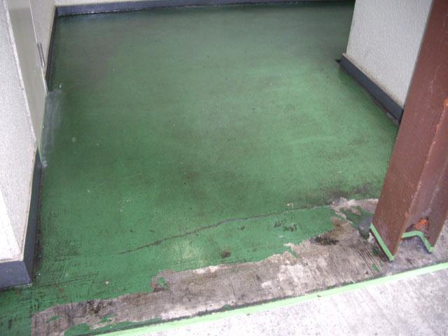 通路階段塗装前