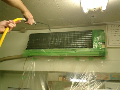 空調機高圧ジェット洗浄工事
